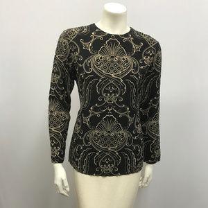 Vintage Gianni Versace Silk Blouse Baroque Prt 42